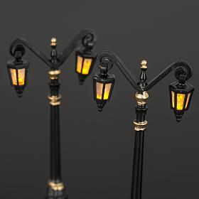 Battery powered street lamps, set of 2, H10cm s4