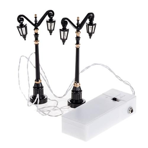 Battery powered street lamps, set of 2, H10cm 3