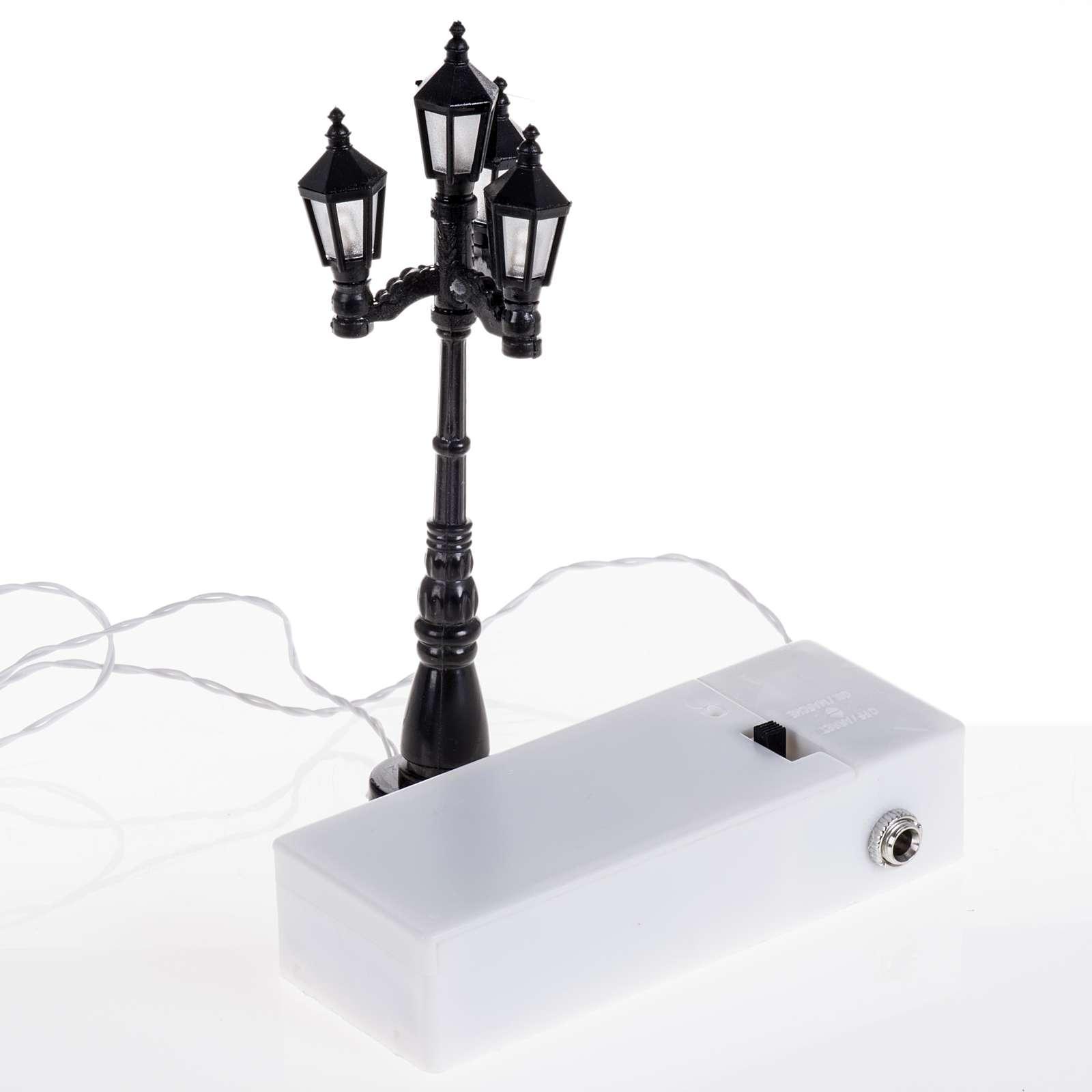 Batterie-Laterne mit 4 Lichtern h 11 cm 4