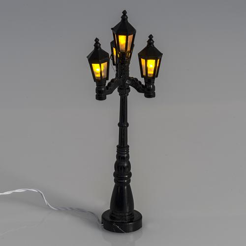 Battery powered street lamp with 4 lights, H11cm 2