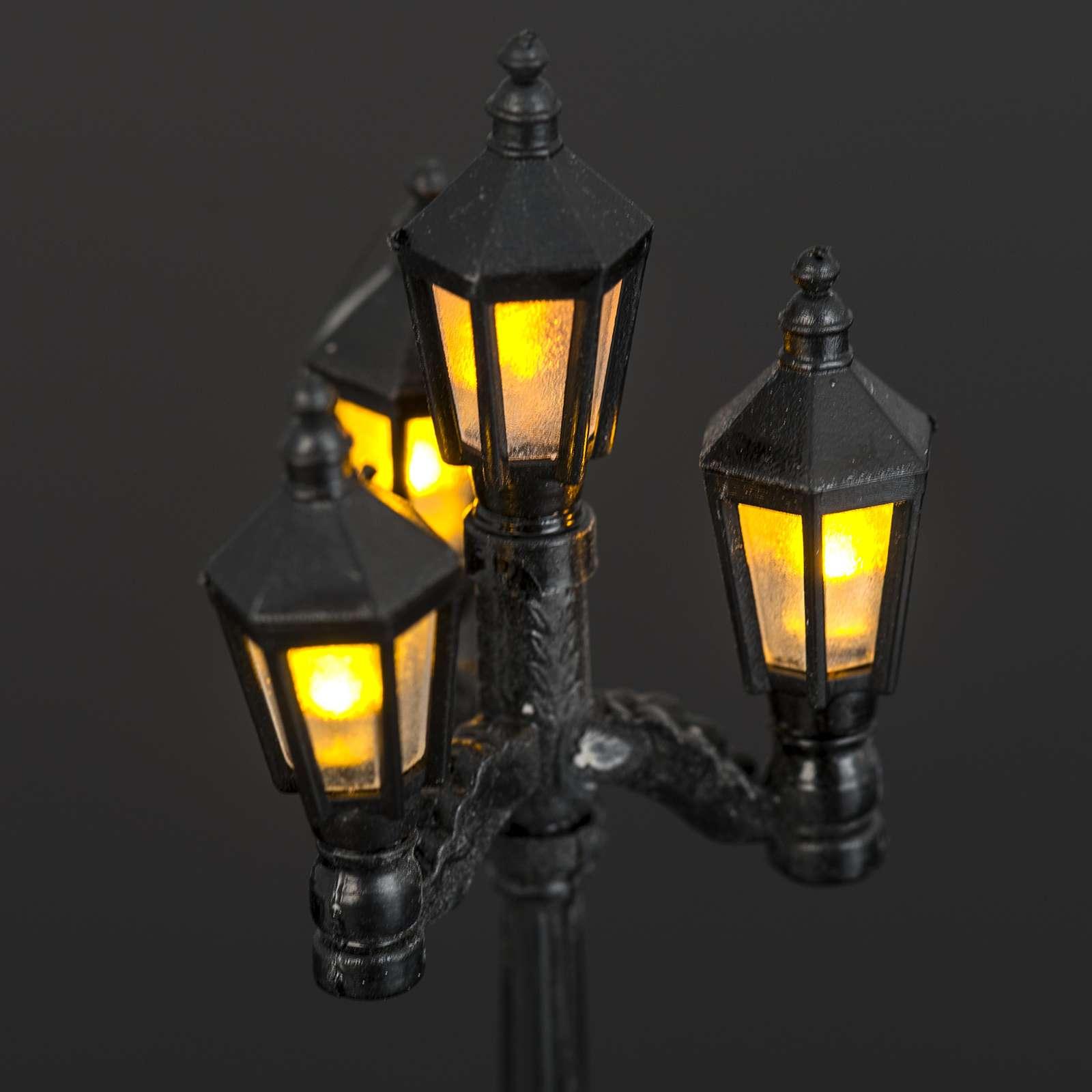 Farol con 4 luces a batería de 11 cm 4