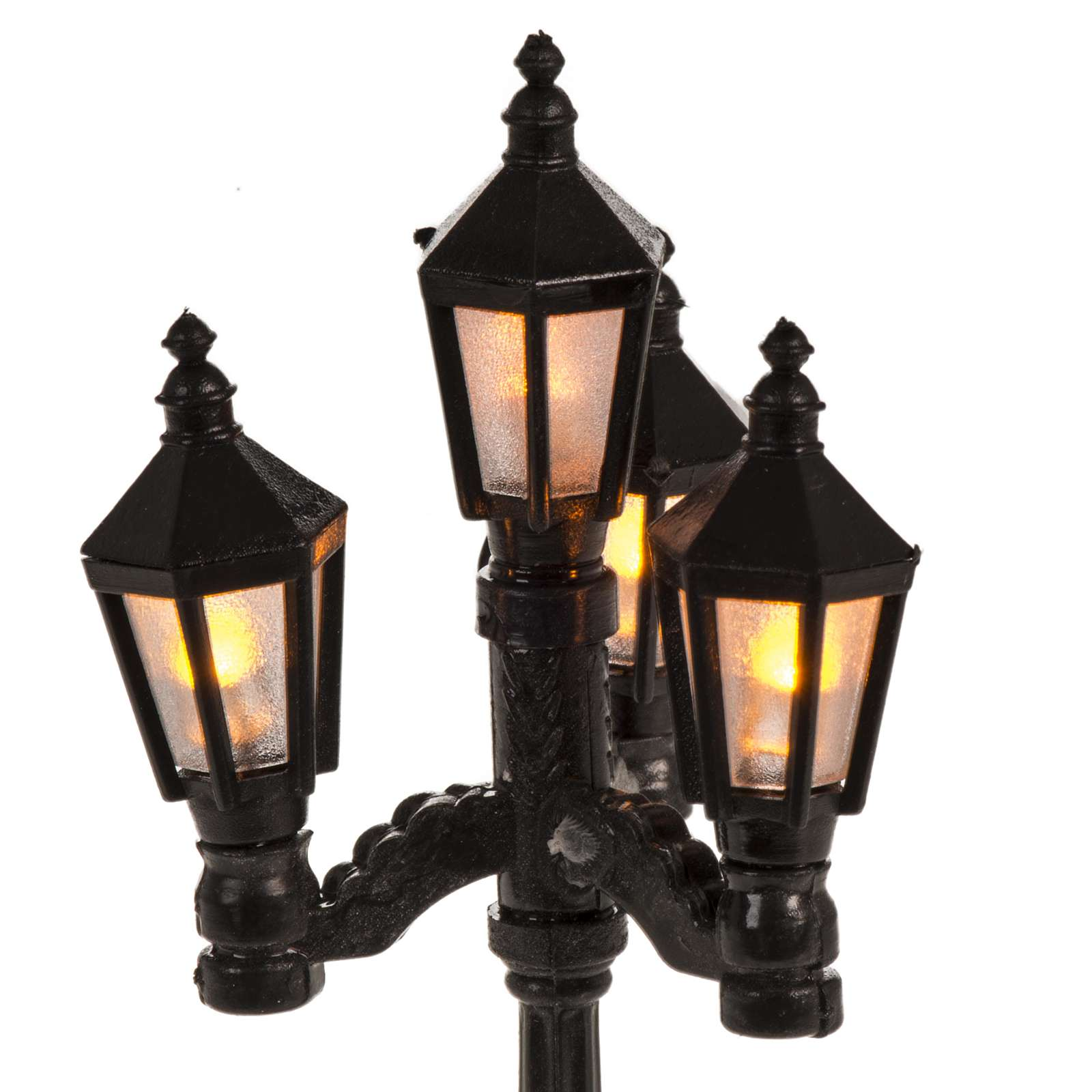 Battery powered street lamp with 4 lights, H11cm 4