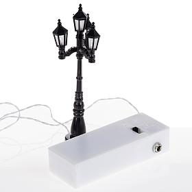 Battery powered street lamp with 4 lights, H11cm s3