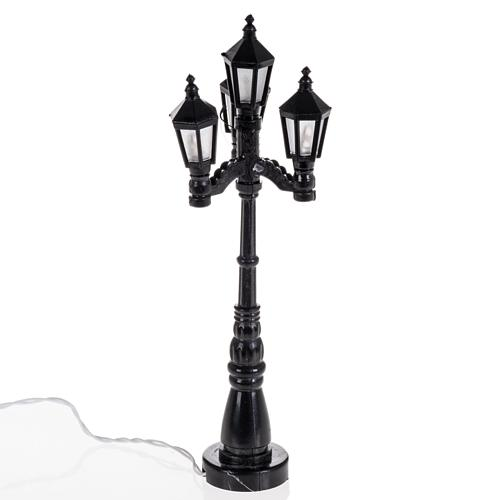 Battery powered street lamp with 4 lights, H11cm 1