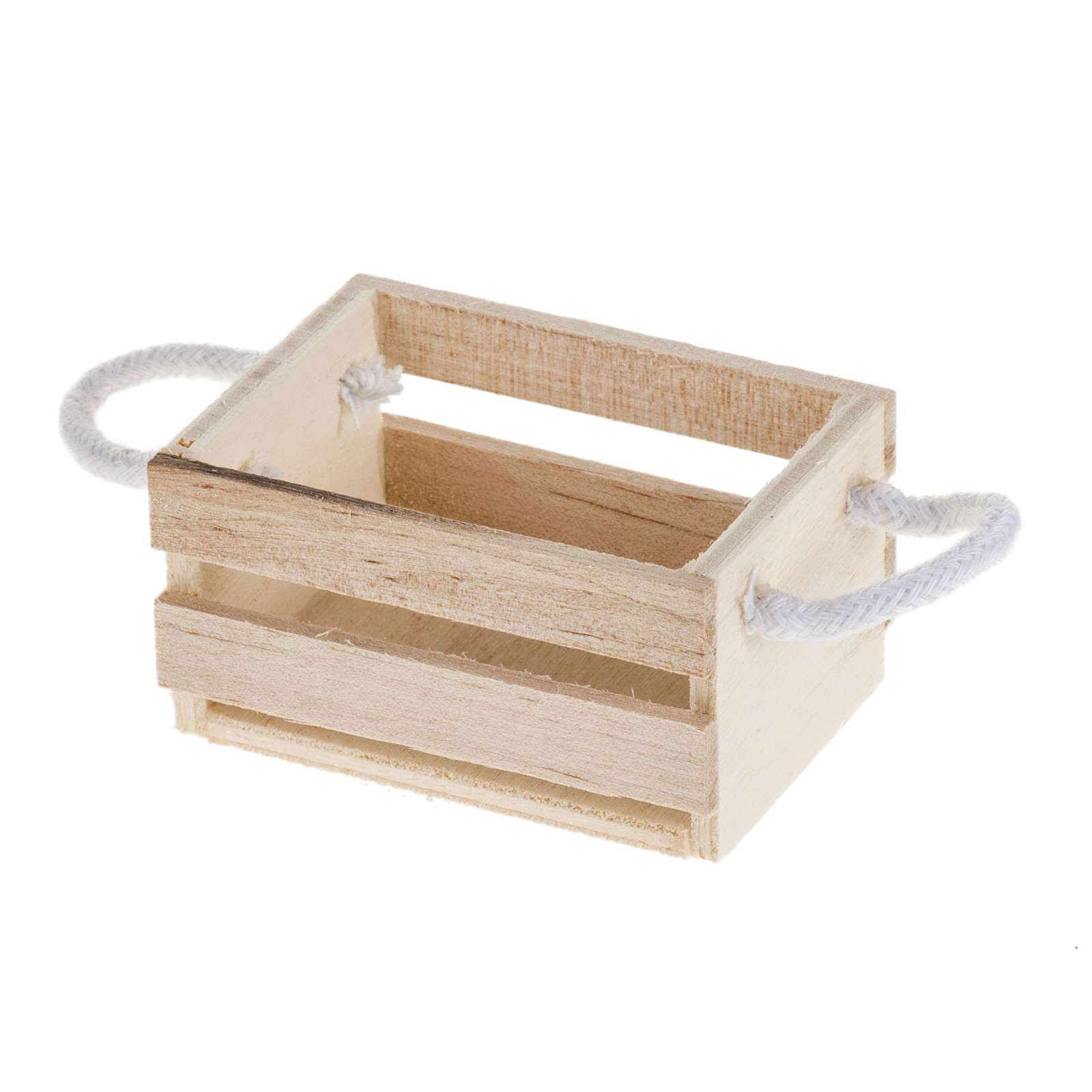 Nativity accessory, wooden box with rope handles 4