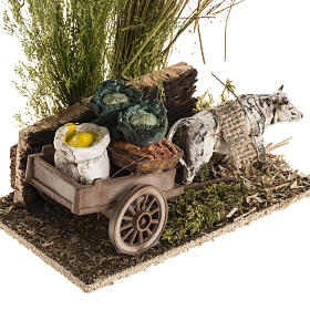 Ox with sacks cart, nativity setting s2