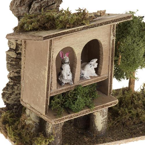 Conigli nella conigliera 8-10 cm: ambientazione rurale 2