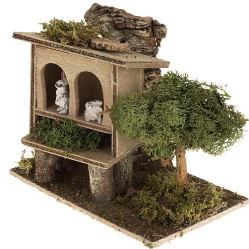 Conigli nella conigliera 8-10 cm: ambientazione rurale 3