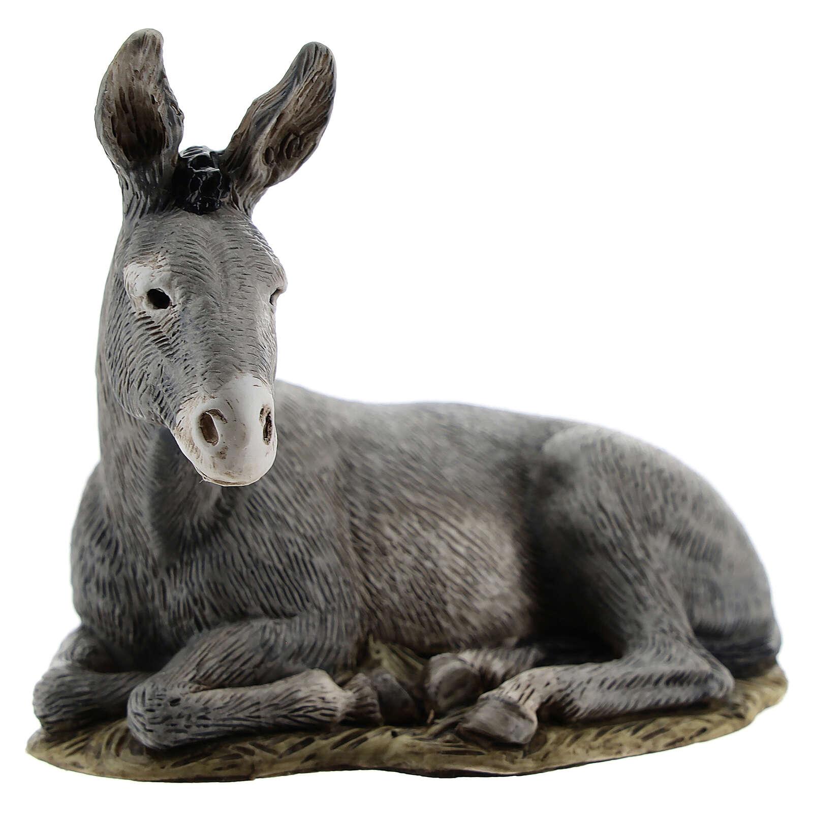 Nativity scene figurine, donkey, 11cm by Landi 3