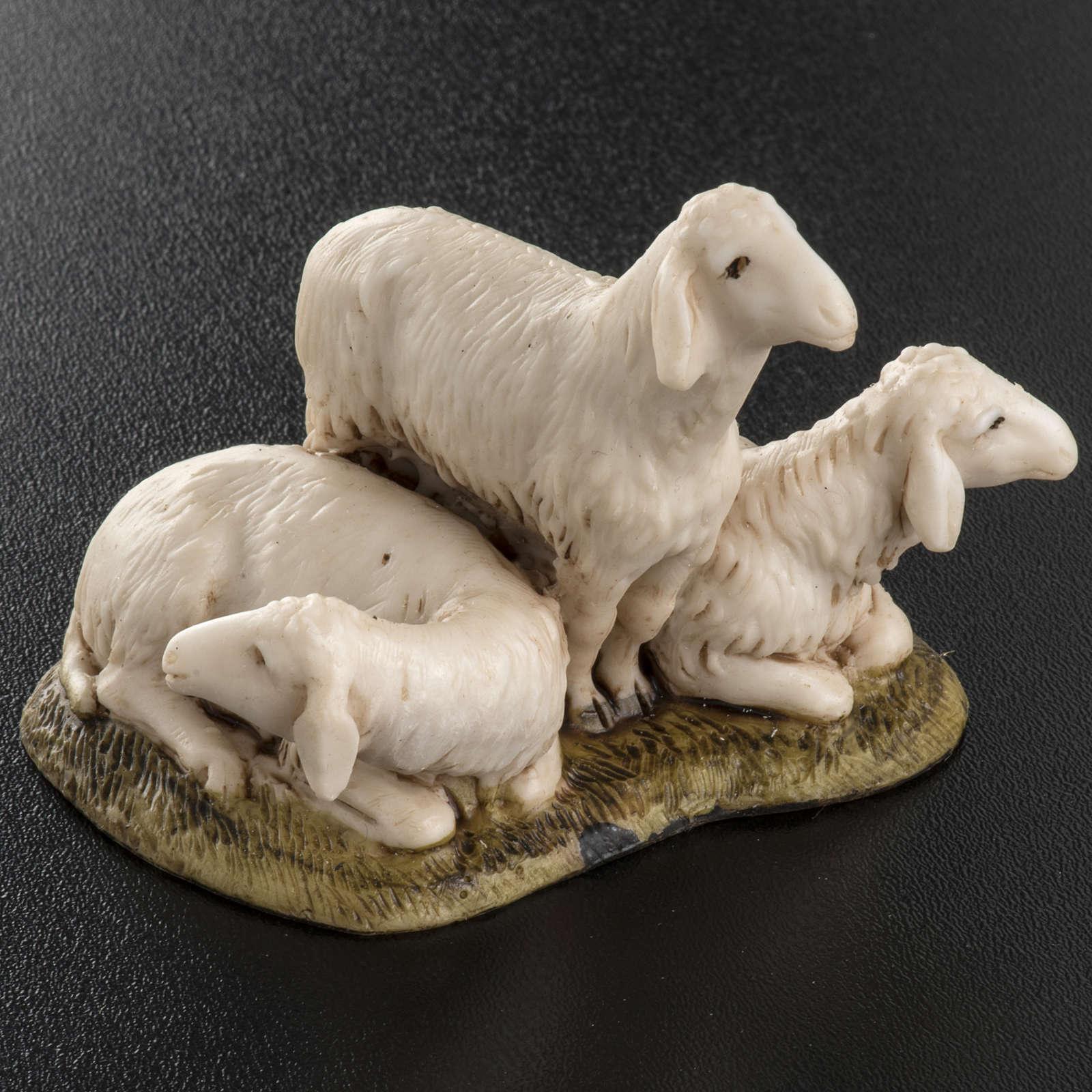 Trois moutons crèche de Noel Landi 11 cm 3