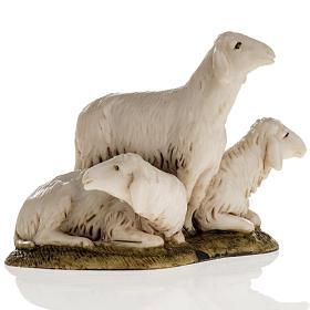 Trois moutons crèche de Noel Landi 11 cm s1
