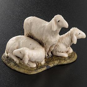 Trois moutons crèche de Noel Landi 11 cm s3