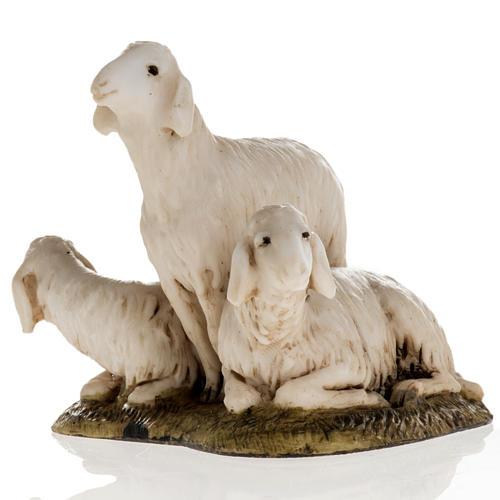 Trois moutons crèche de Noel Landi 11 cm 2