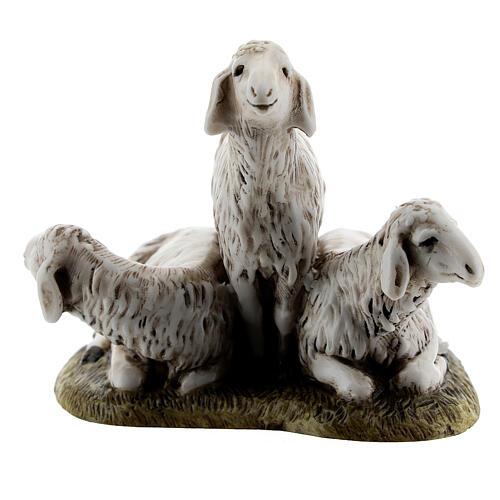 Nativity scene figurine, set of 3 sheep 11cm by Landi 1