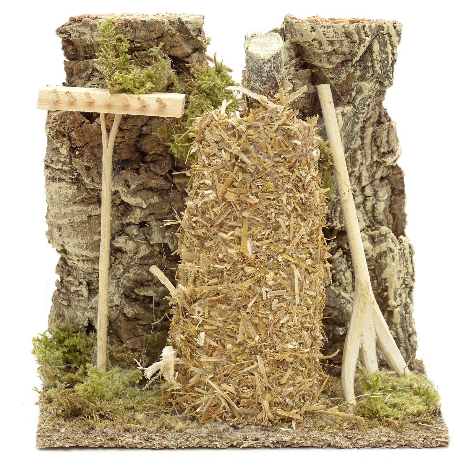 Meule en miniature pour crèche de Noel 4