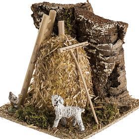 Meule en miniature pour crèche de Noel s3