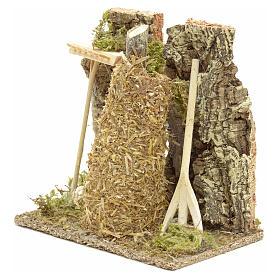 Meule en miniature pour crèche de Noel s8