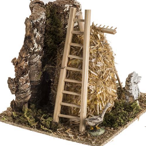 Meule en miniature pour crèche de Noel 2