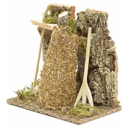 Meule en miniature pour crèche de Noel 8
