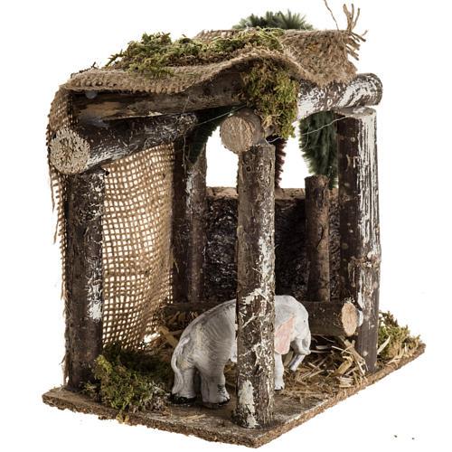 Elefante sotto la tenda ambientazione 8-10 cm 3