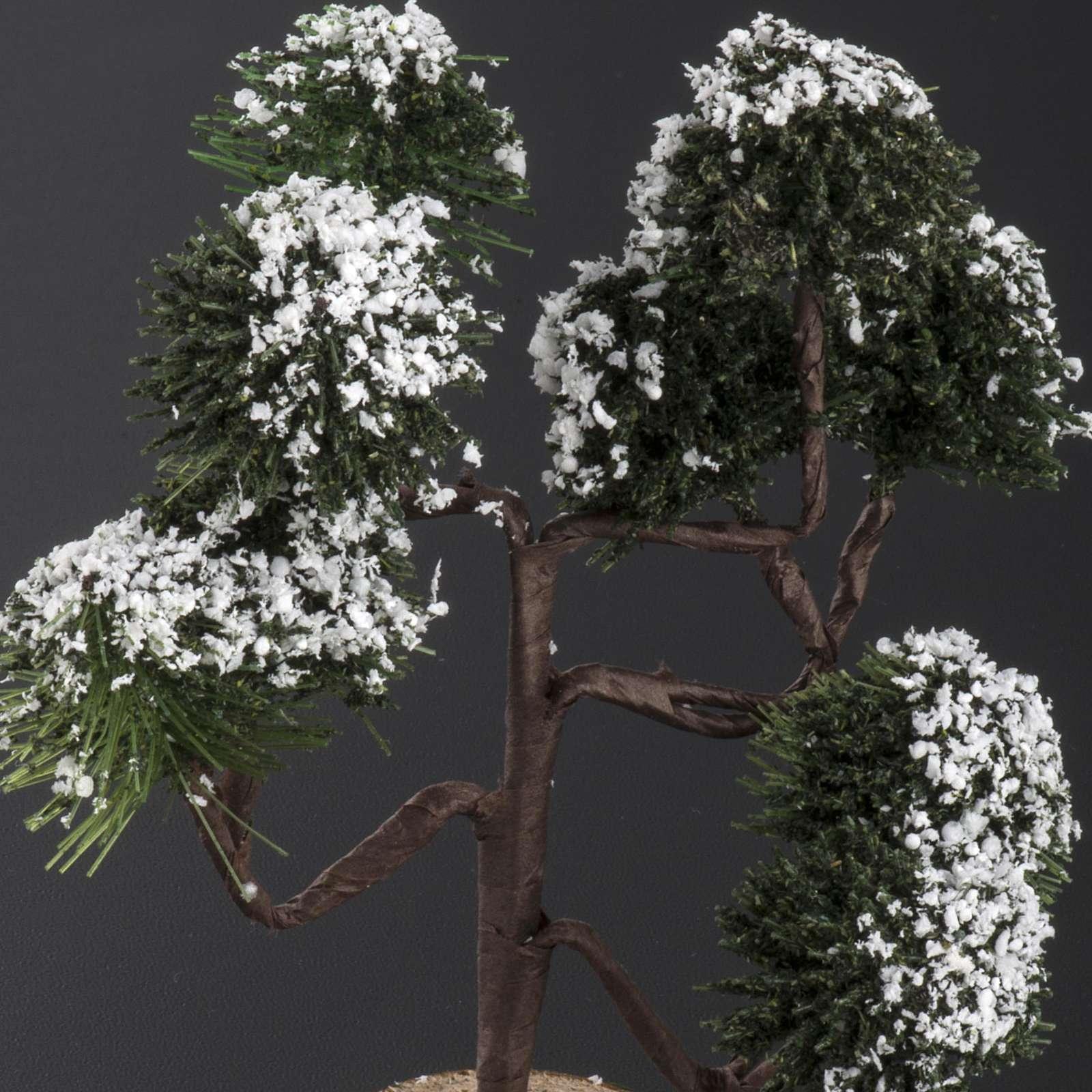 Nativity accessory, snow covered tree H12cm 4