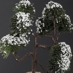 Árbol nevado para el pesebre de 12cm s2