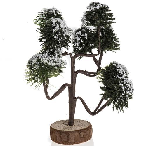 Árbol nevado para el pesebre de 12cm 1
