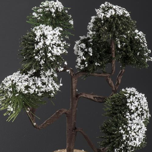 Árbol nevado para el pesebre de 12cm 2