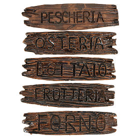 Acessórios de Casa para Presépio: Placas de loja presépio