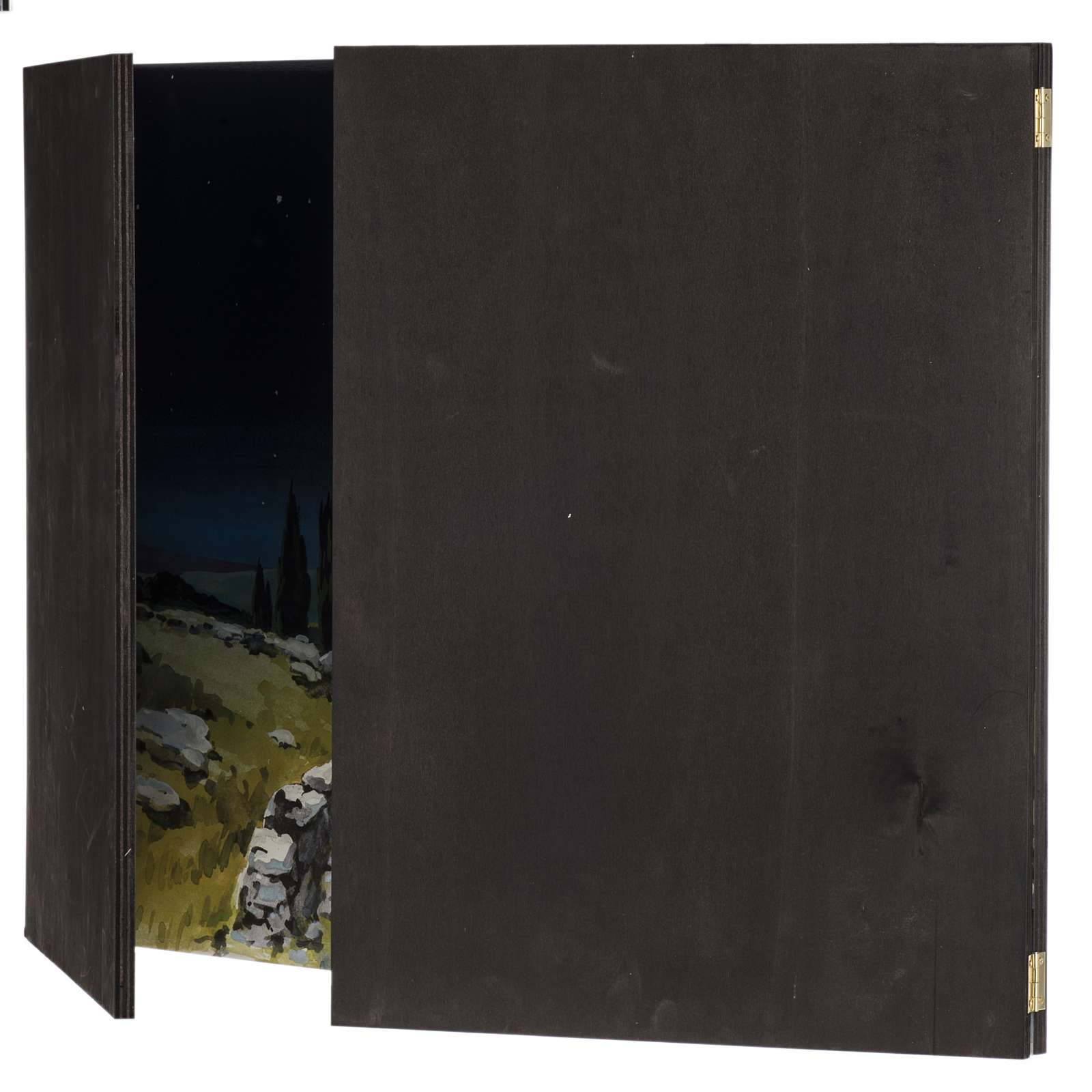 Trittico legno: sfondo presepe paesaggio 200x70 4