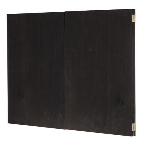 Trittico legno: sfondo presepe paesaggio 200x70 6