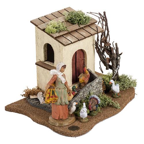 Gallinaia presepe Fontanini: villaggio cm 12 2