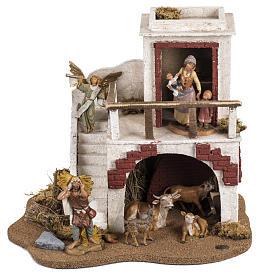 Casa con stalla Fontanini per villaggio cm 12 s1