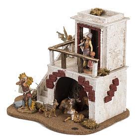 Casa con stalla Fontanini per villaggio cm 12 s3