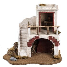 Casa con stalla Fontanini per villaggio cm 12 s4