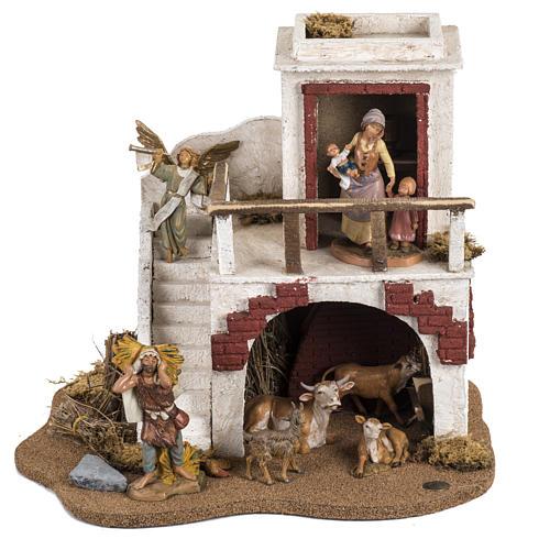 Casa con stalla Fontanini per villaggio cm 12 1