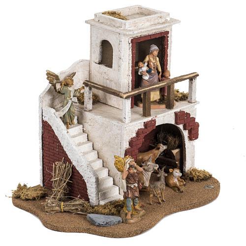Casa con stalla Fontanini per villaggio cm 12 2