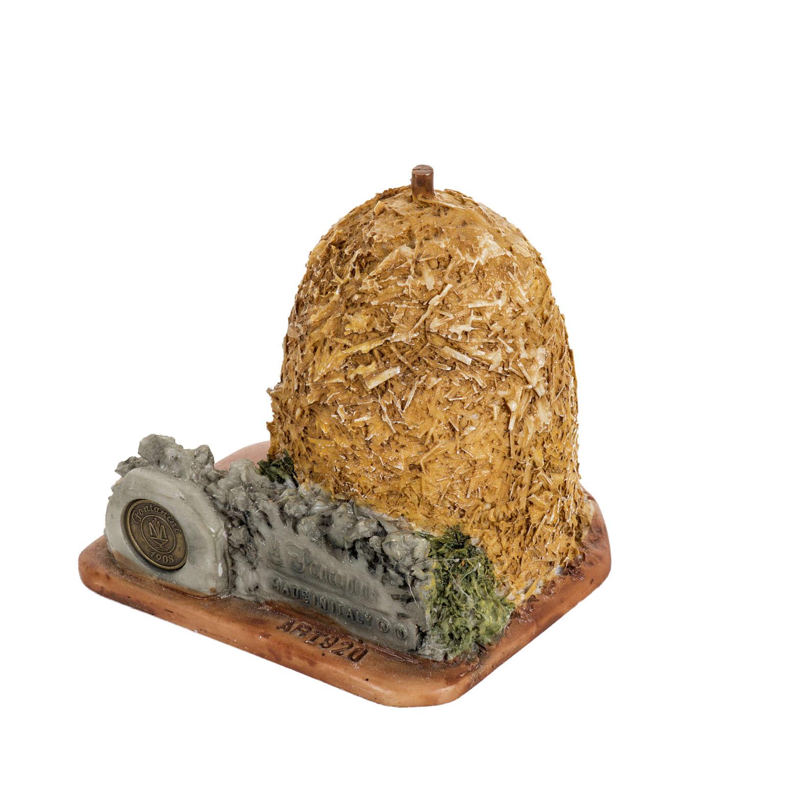 Botte de paille crèche de Noel Fontanini 6,5 cm 4