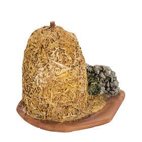 Botte de paille crèche de Noel Fontanini 6,5 cm s1