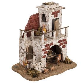 Maison avec étable crèche de Noel Fontanini 6,5 cm s2