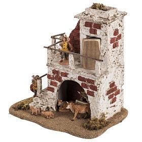 Maison avec étable crèche de Noel Fontanini 6,5 cm s3