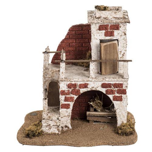 Casa con stalla per villaggio Fontanini cm 6.5 4