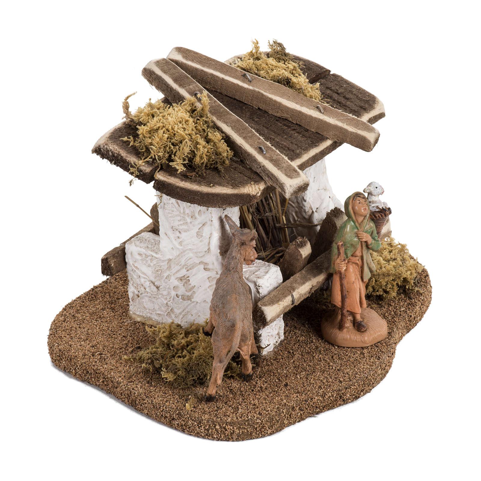 Mangeoire crèche de Noel Fontanini 6,5 cm | vente en ligne sur HOLYART