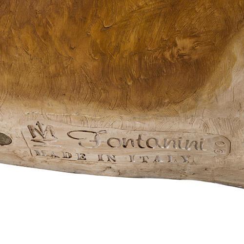 Boi em Resina 147x94x77 cm para presépio Fontanini com figuras de altura média 180 cm 4
