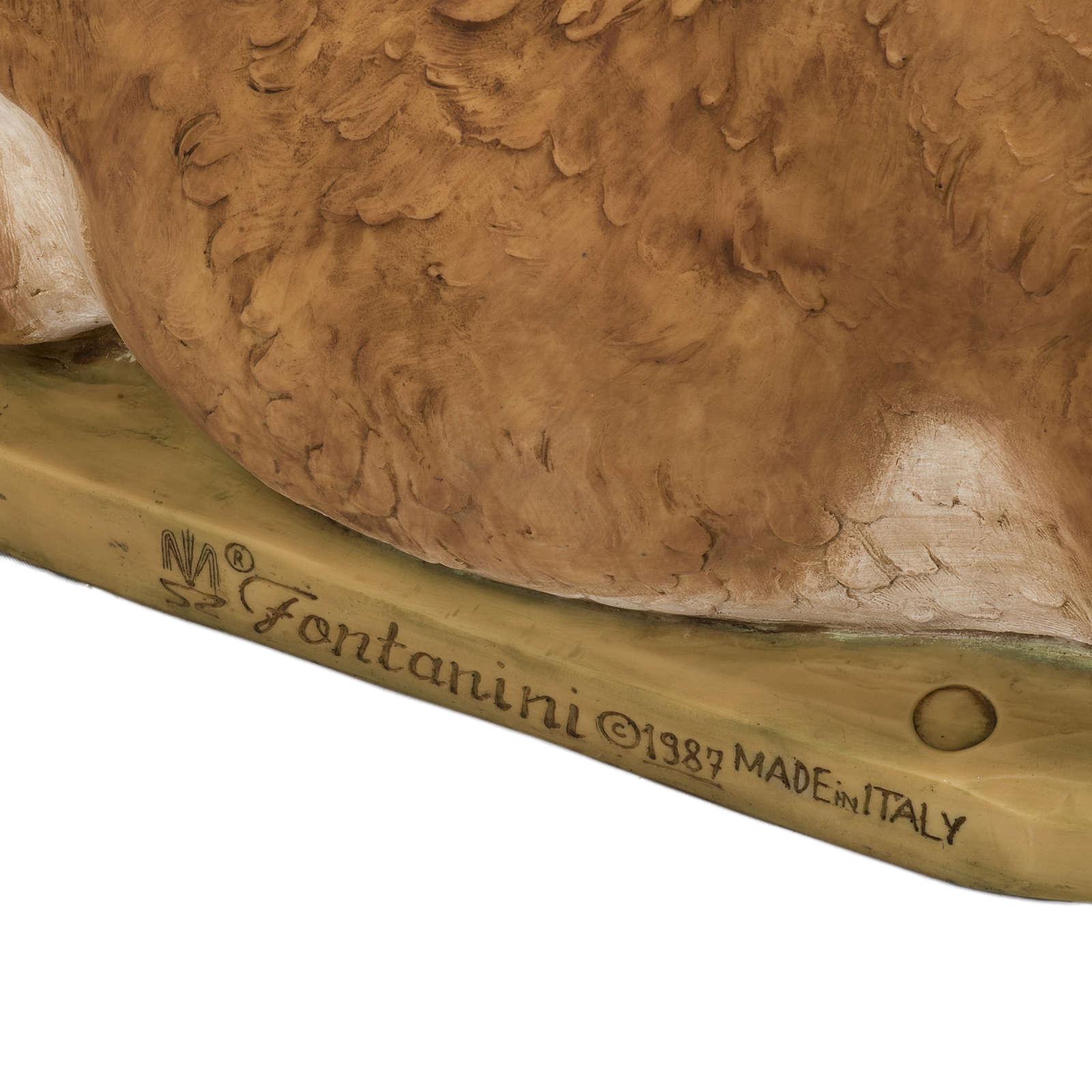 Boi 105x67x52 cm para presépio Fontanini com figuras de altura média 125 cm 4