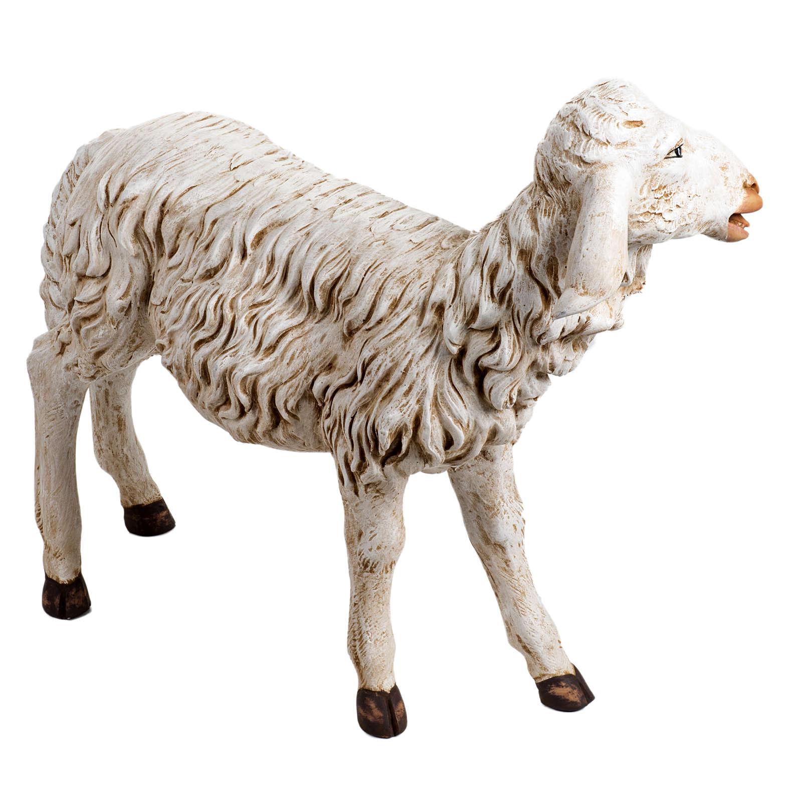 Pecora in piedi 125 cm resina Fontanini 3