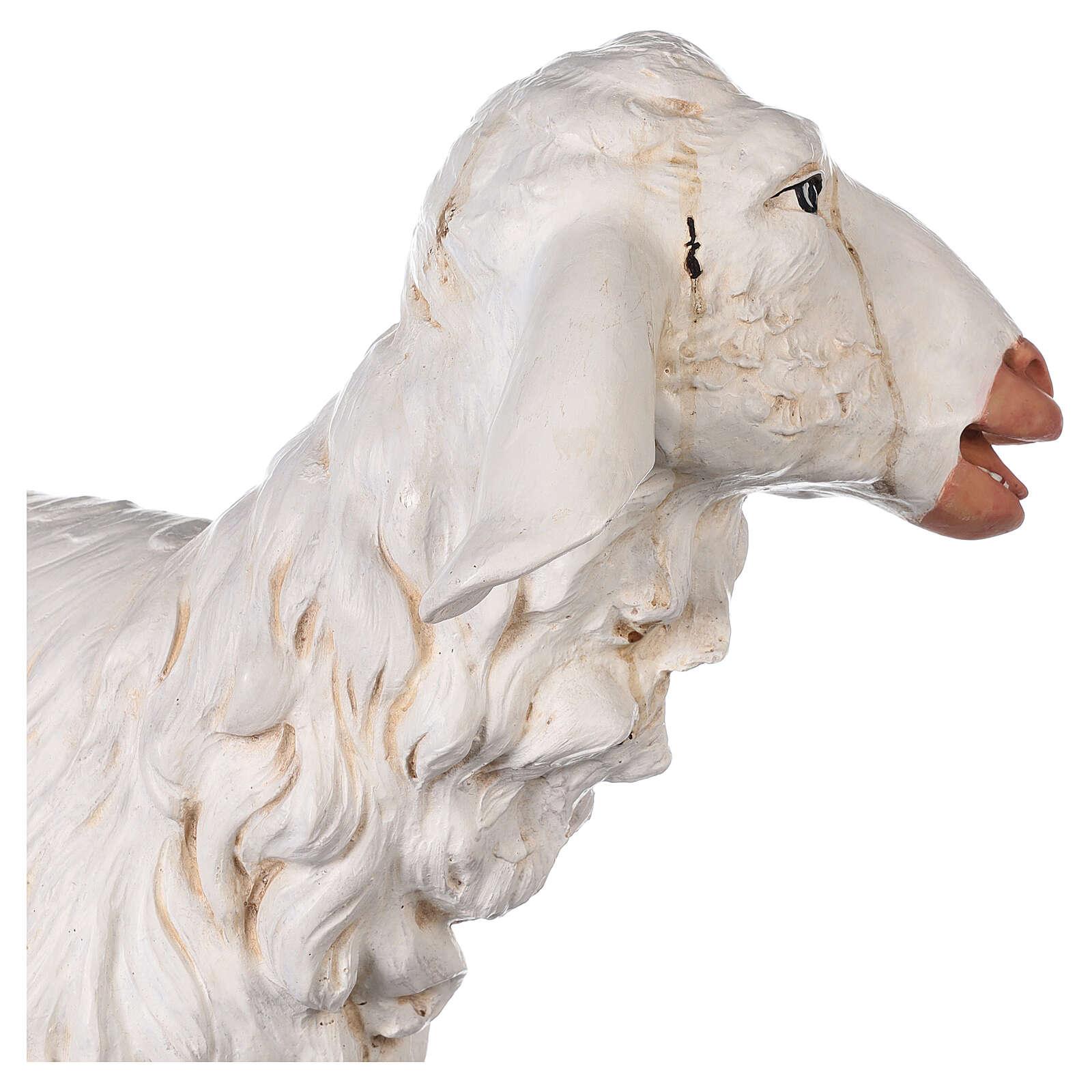 Pecora in piedi 125 cm resina Fontanini 4