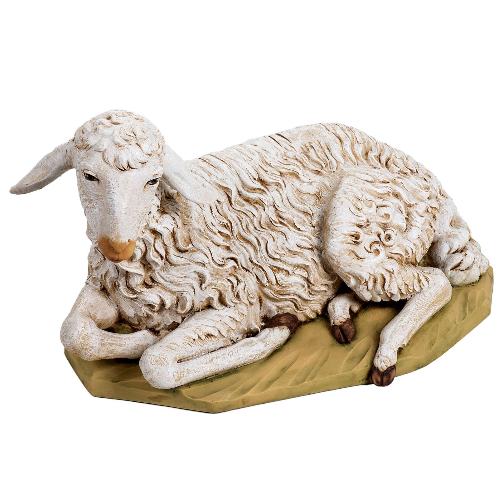 Pecora seduta 125 cm resina Fontanini 3