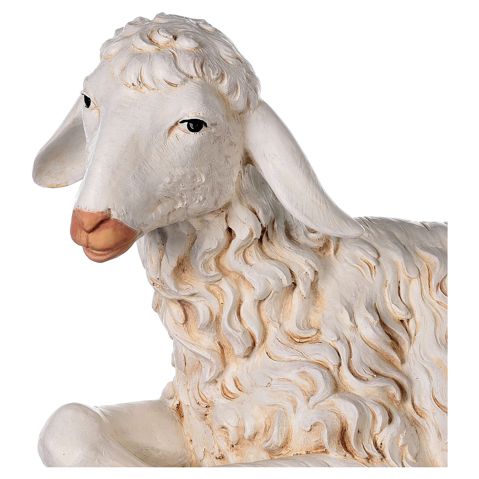 Pecora seduta 125 cm resina Fontanini 4