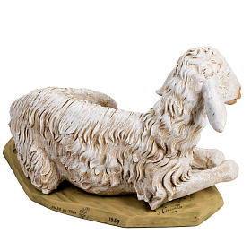 Pecora seduta 125 cm resina Fontanini s2